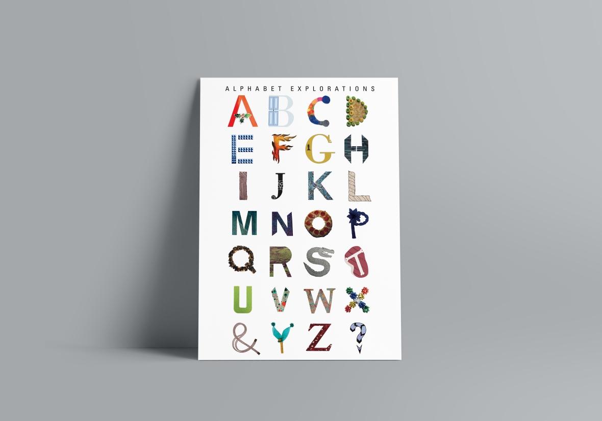 Alphabet Poster MockUp